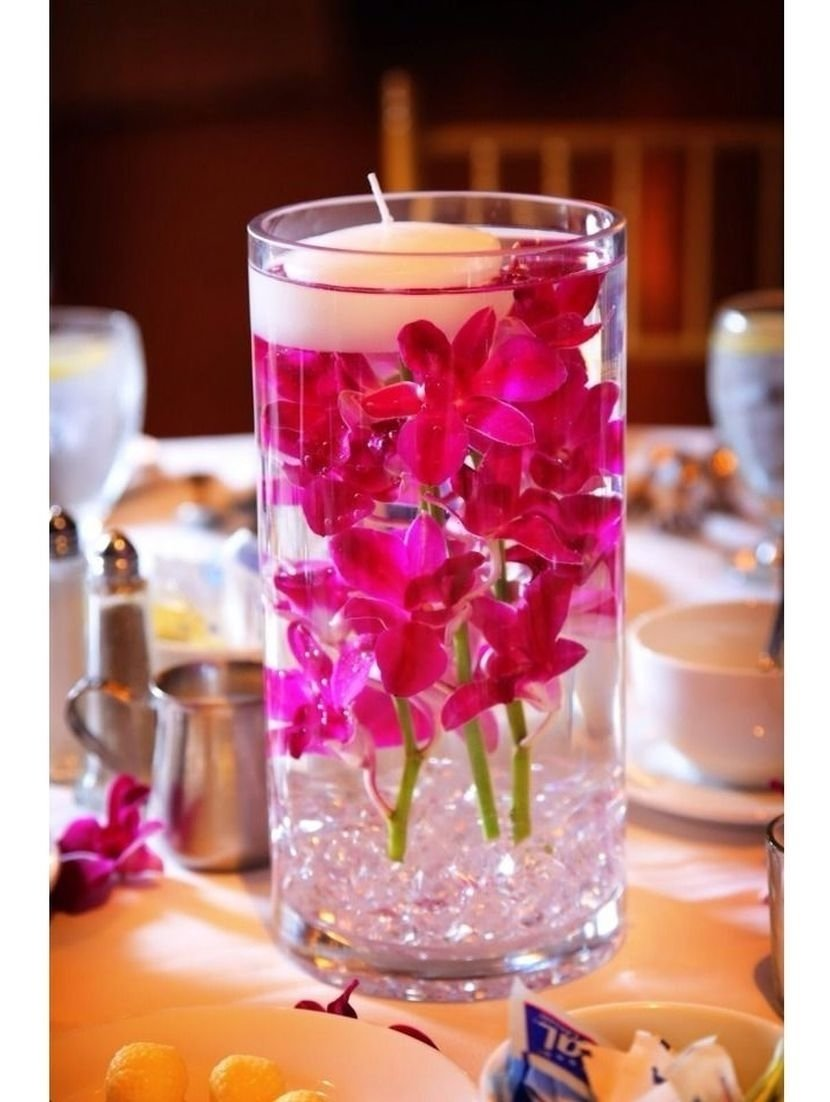 10 Most Recommended Vase Decoration Ideas Table Centerpieces inexpensive hurricane vase wedding table centerpiece with floating 1 2020