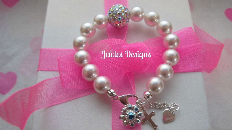 10 Spectacular Baptism Gift Ideas For Girls infant jewelry swarovski baby bracelet baptism flower girl