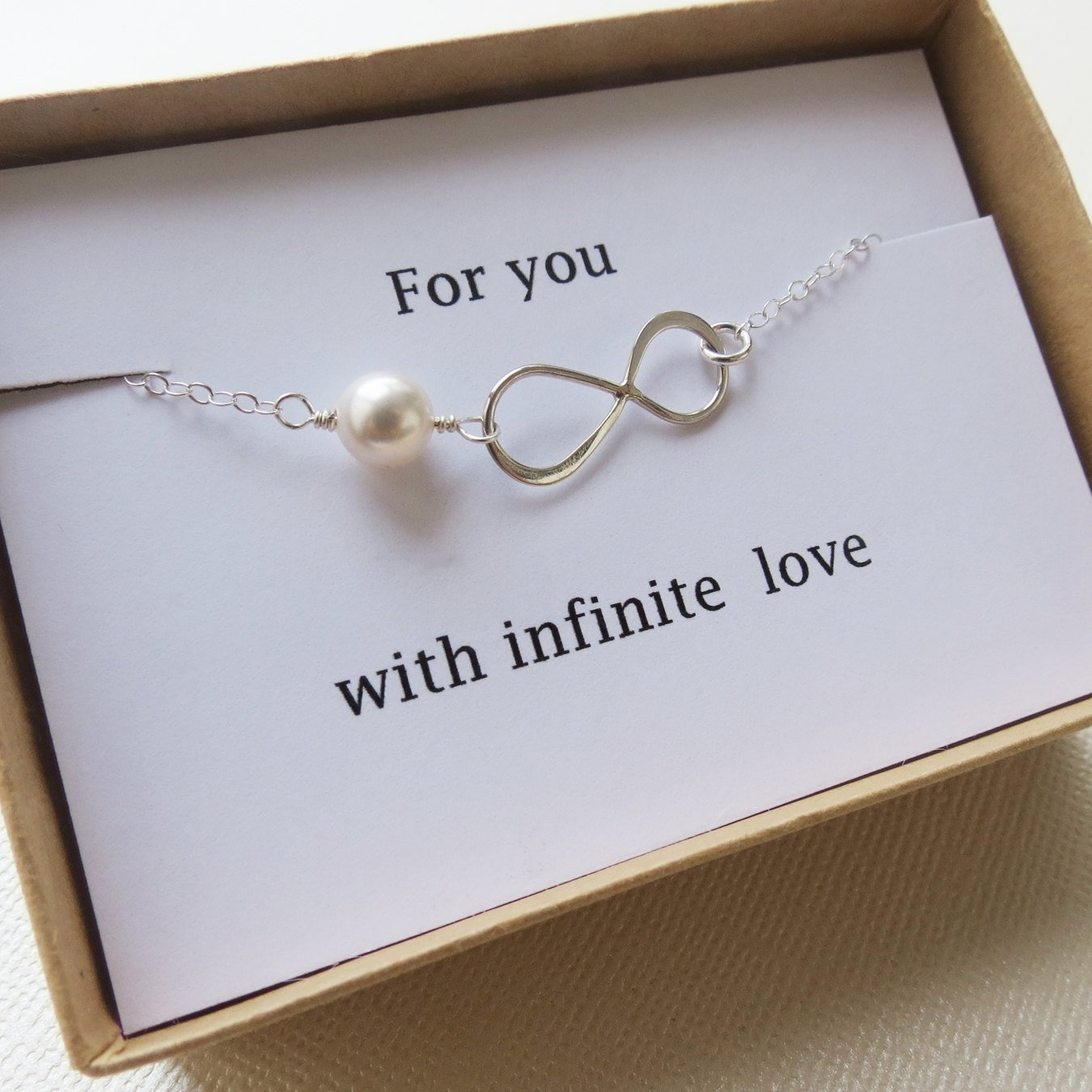 10 Fashionable Christmas Present Ideas For Girlfriend infinity bracelet love holiday gift infinity jewelry card 2 2020