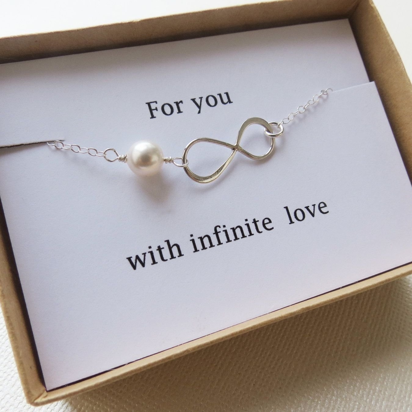 10 Lovable Christmas Gifts Ideas For Girlfriend infinity bracelet love holiday gift infinity jewelry card 8 2020