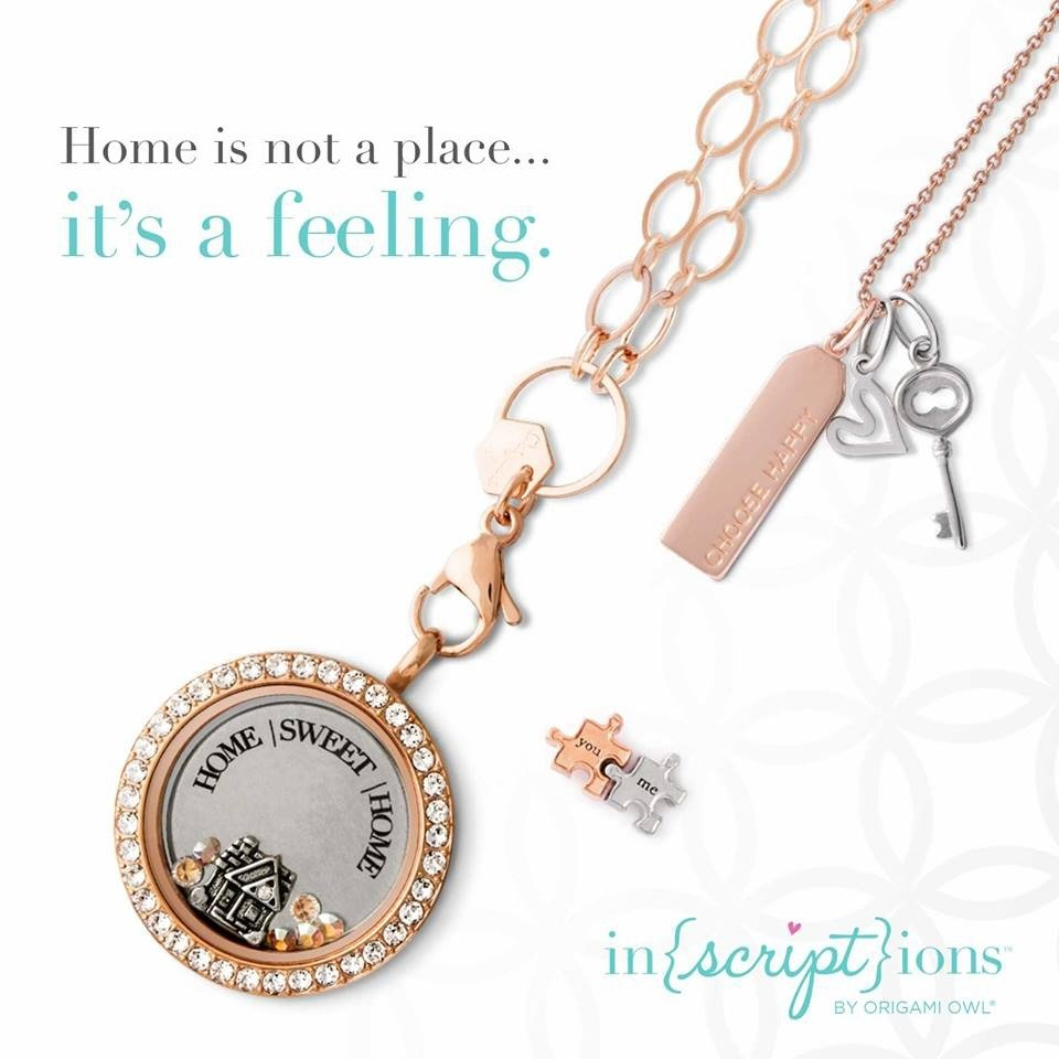 inscriptions home sweet home origami owl living locket | origami owl