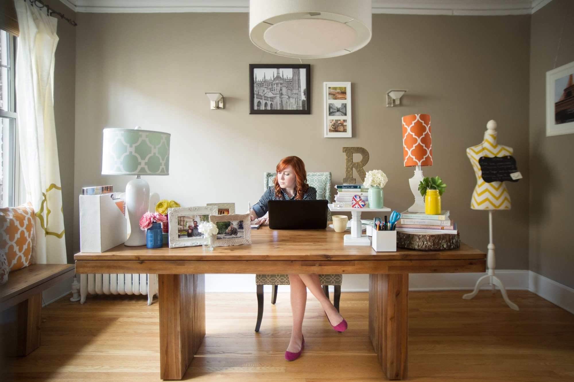 10 Most Popular Work From Home Ideas 2013 inside peek at our bright work space matchmade event co 2020