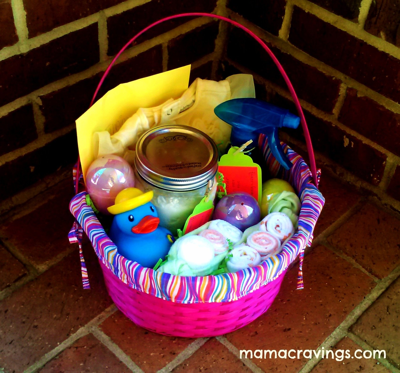 10 Great Easter Basket Ideas For Babies inspiration for spring baby gift easter basket mamacravings 2021