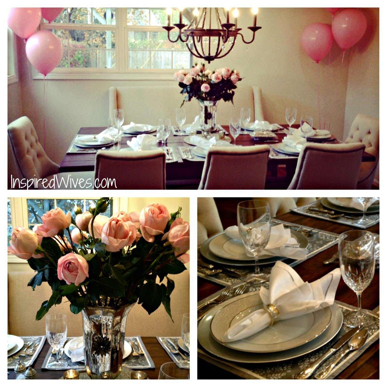 inspired i dos: elegant dinner party (think pink)