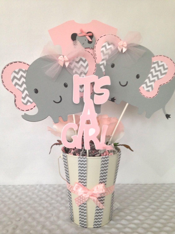 10 Stylish Pink And Gray Baby Shower Ideas inspiring baby shower elephant decorations elephant baby 1 2020