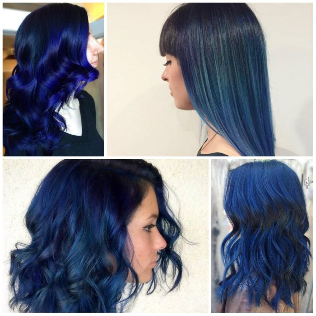 10 Great Blue And Black Hair Color Ideas inspiring hairstyles best blue black hair dye ideas image for dark 2020