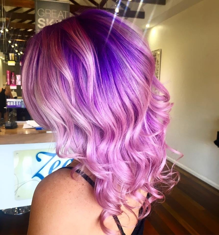 10 Wonderful Pink And Purple Hair Ideas inspiring pink hair with purple roots colormelt colors ideas of 2020