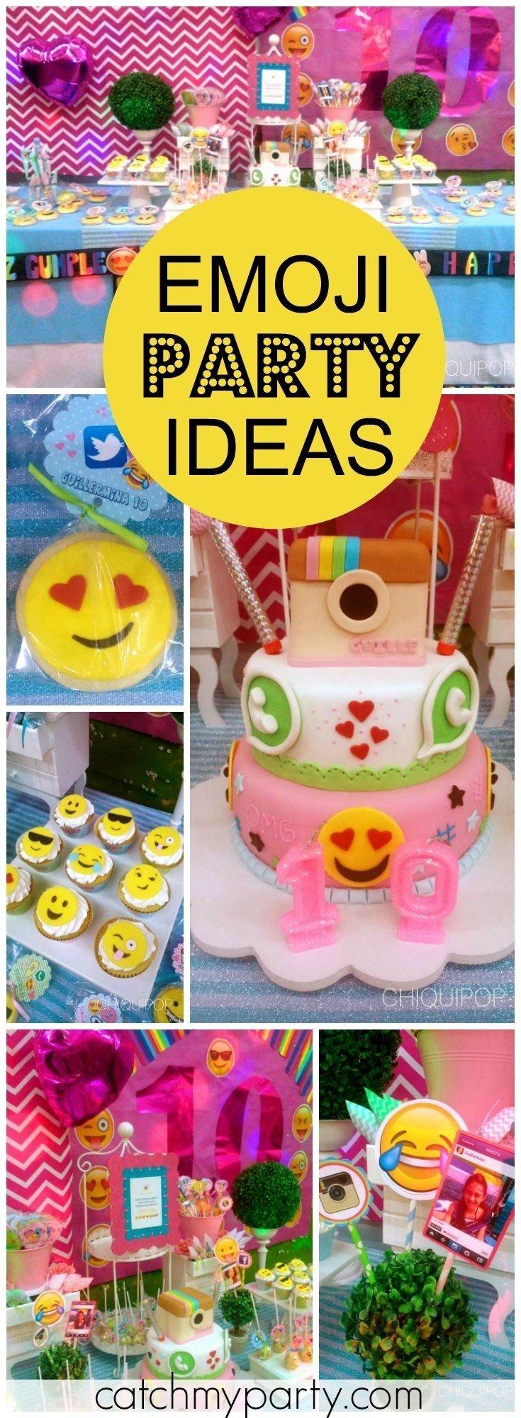 10 Wonderful Fun 13Th Birthday Party Ideas insta face emoji birthday a fun holiday for guillerminas 10th 5