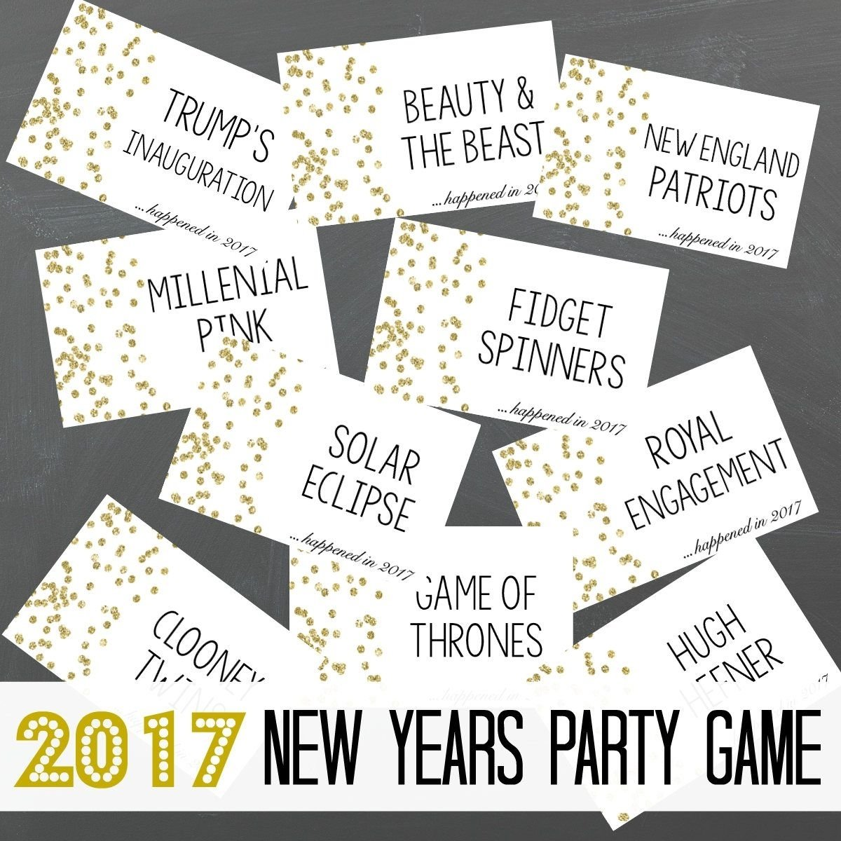 10 Wonderful New Years Eve Game Ideas instant download printable new years game 2018 new years eve game 2020