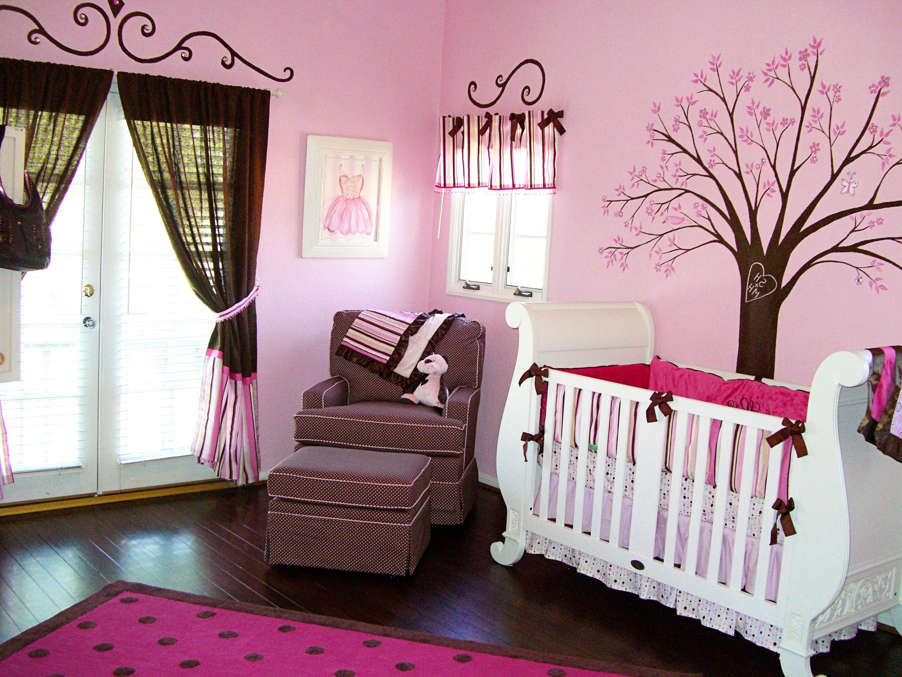 10 Cute Baby Room Ideas For A Girl interior beautiful theme girl baby nursery ideas wooden component 2