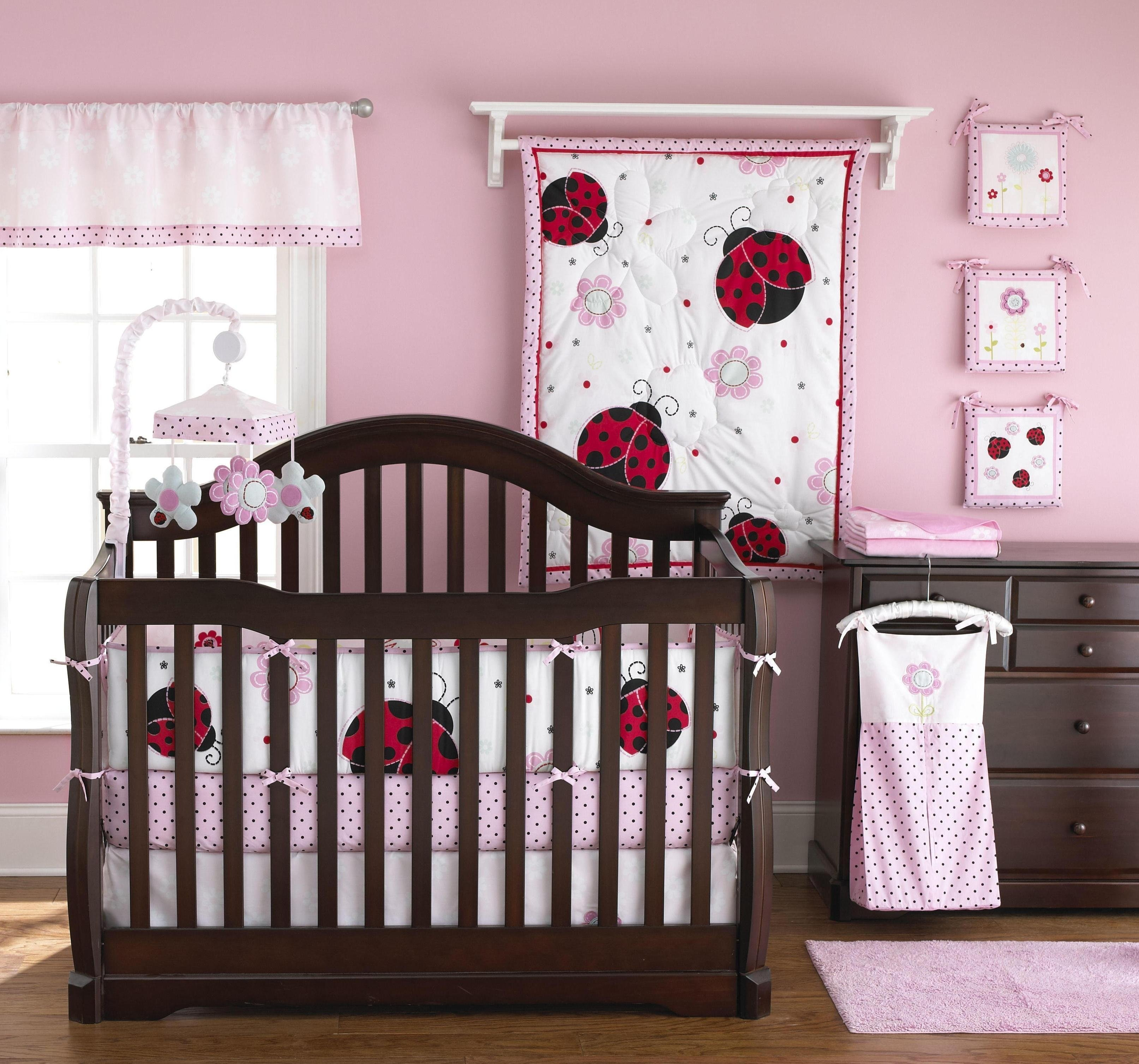 10 Lovely Pink And Brown Nursery Ideas interior dark brown wooden cradle with white bedding having red 2020