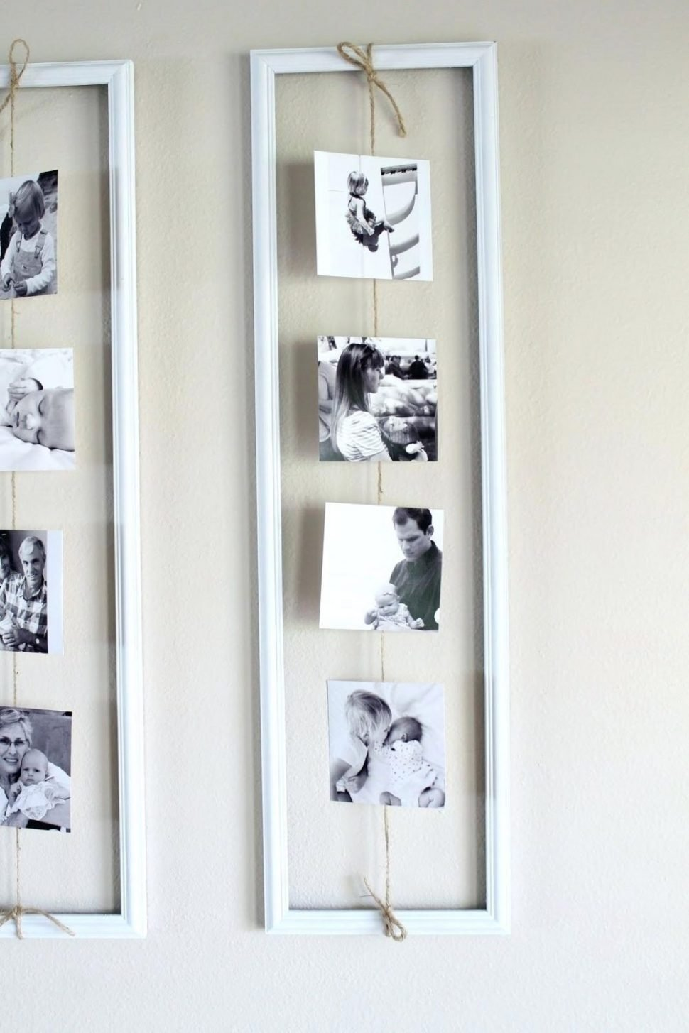 10 Lovely Ideas For Hanging Pictures On Wall Without Frames