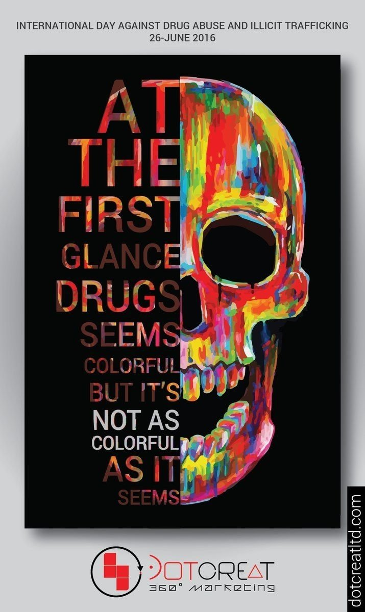 10 Stylish Say No To Drugs Poster Ideas international day against drug abuse and illicit trafficking