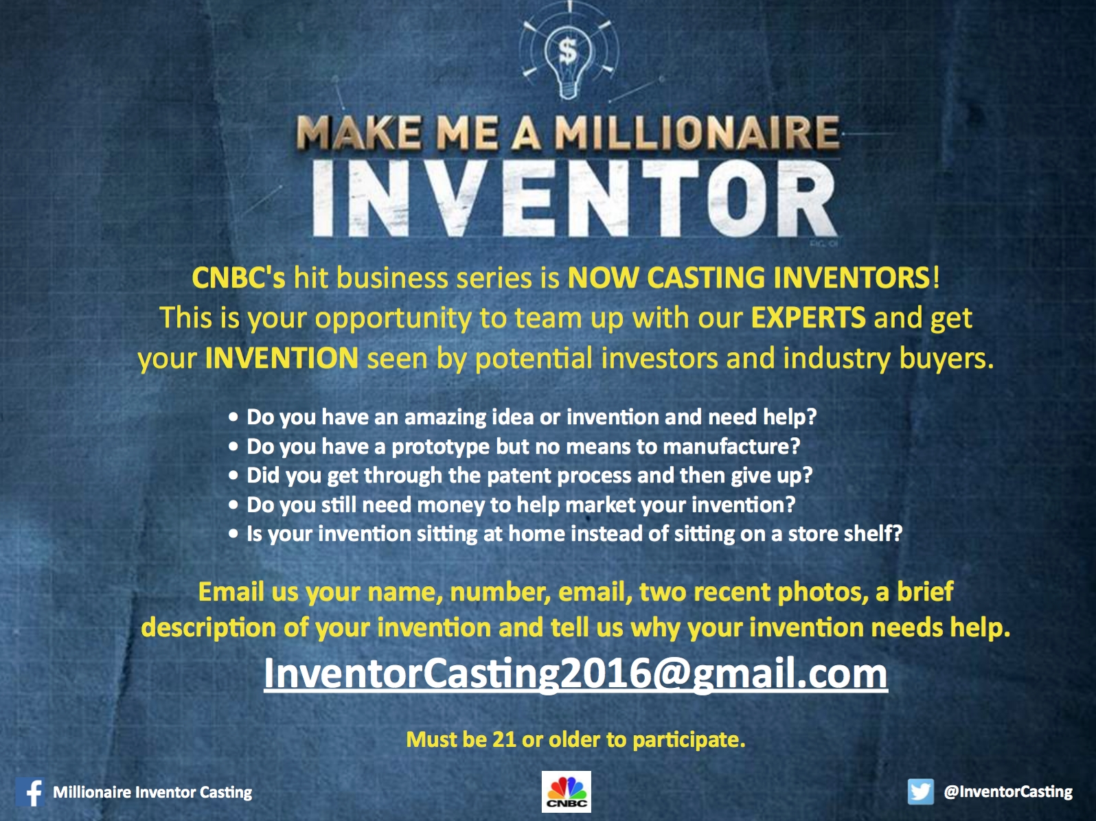 10 Best I Have An Invention Idea But No Money inventors wantedcnbc for make a millionaire inventor show