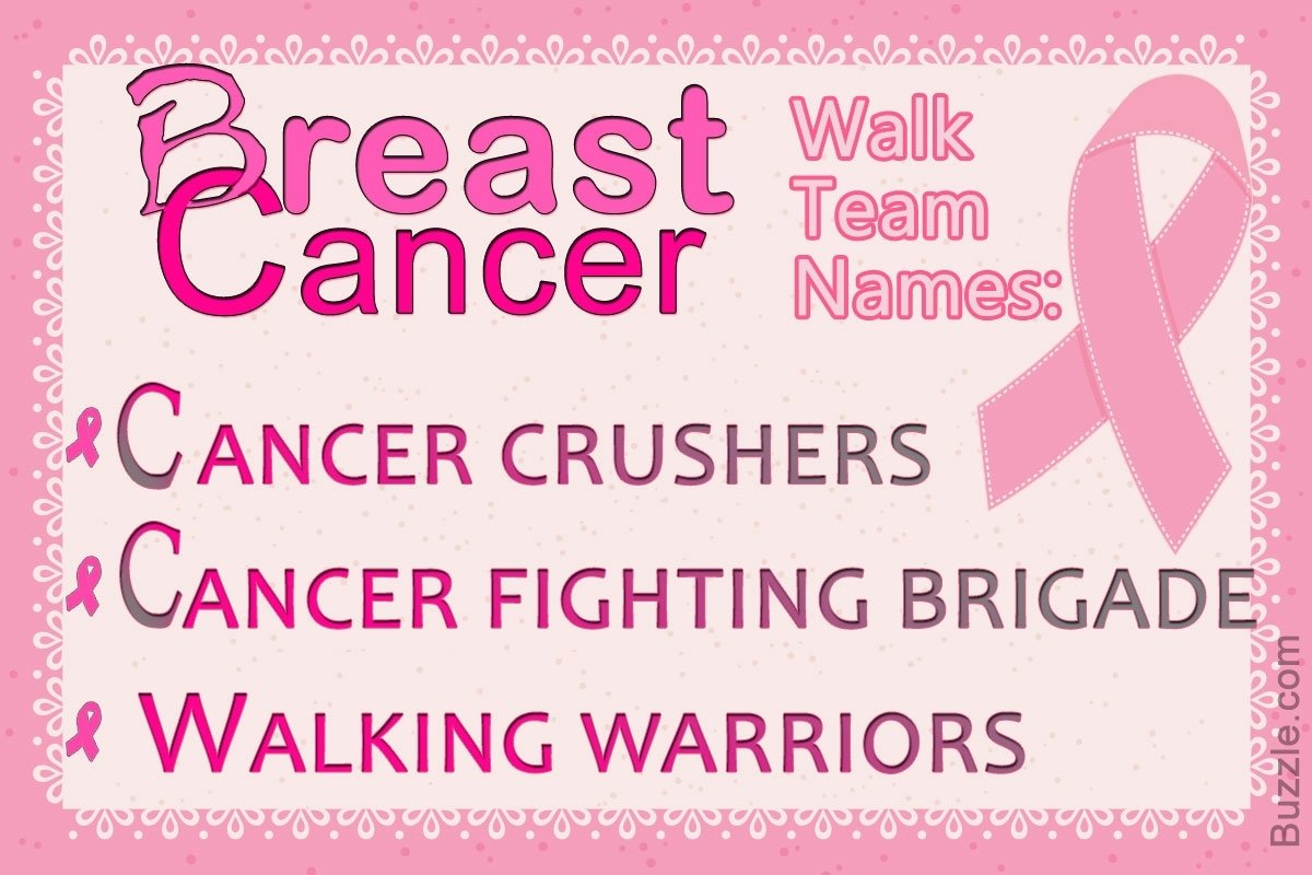 10 Lovely Breast Cancer Team Name Ideas invigorating and inspiring team name ideas for breast cancer walk 2020