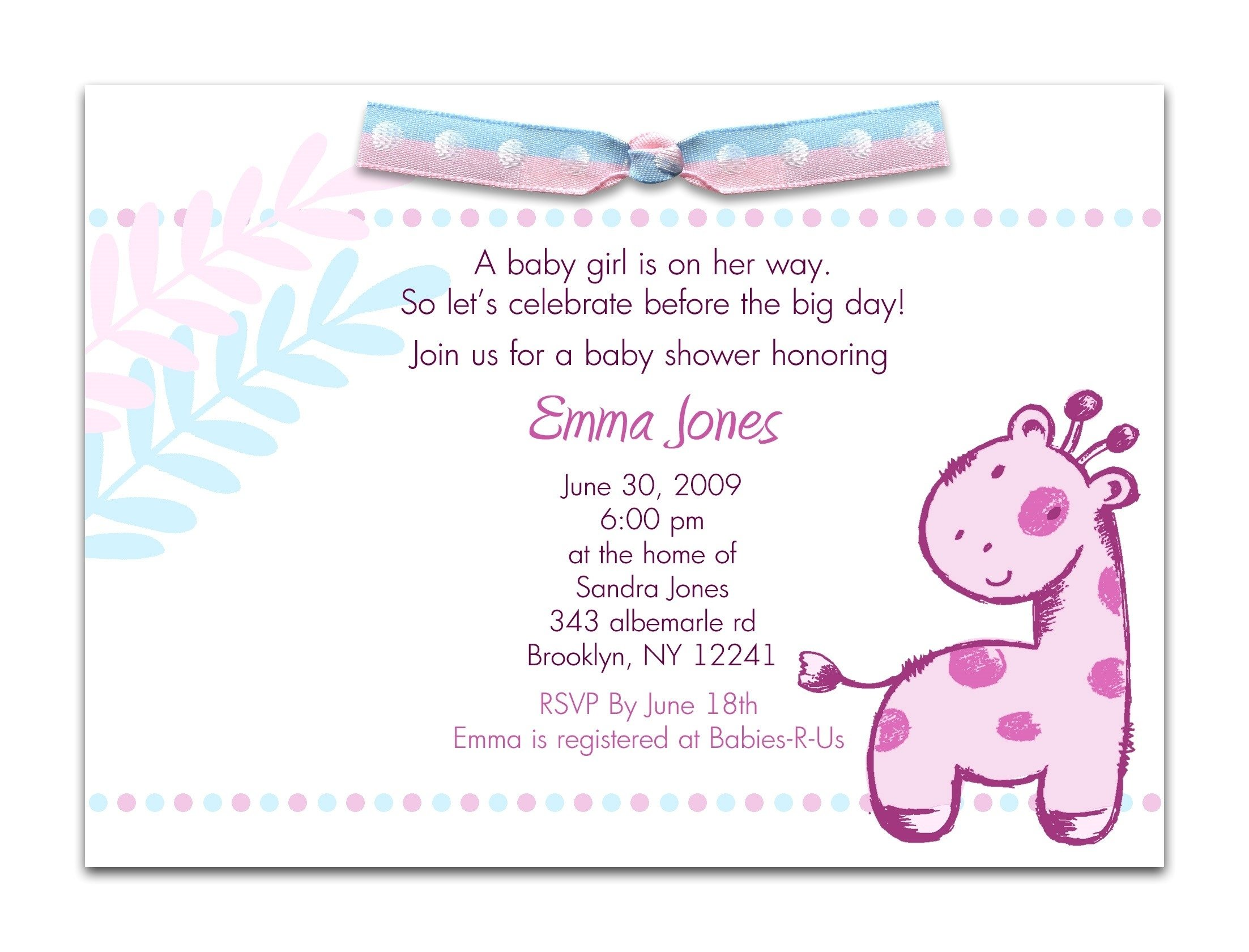 10 Attractive Invitation Ideas For Baby Shower invitation for baby shower amusing baby shower invitation wording 2020