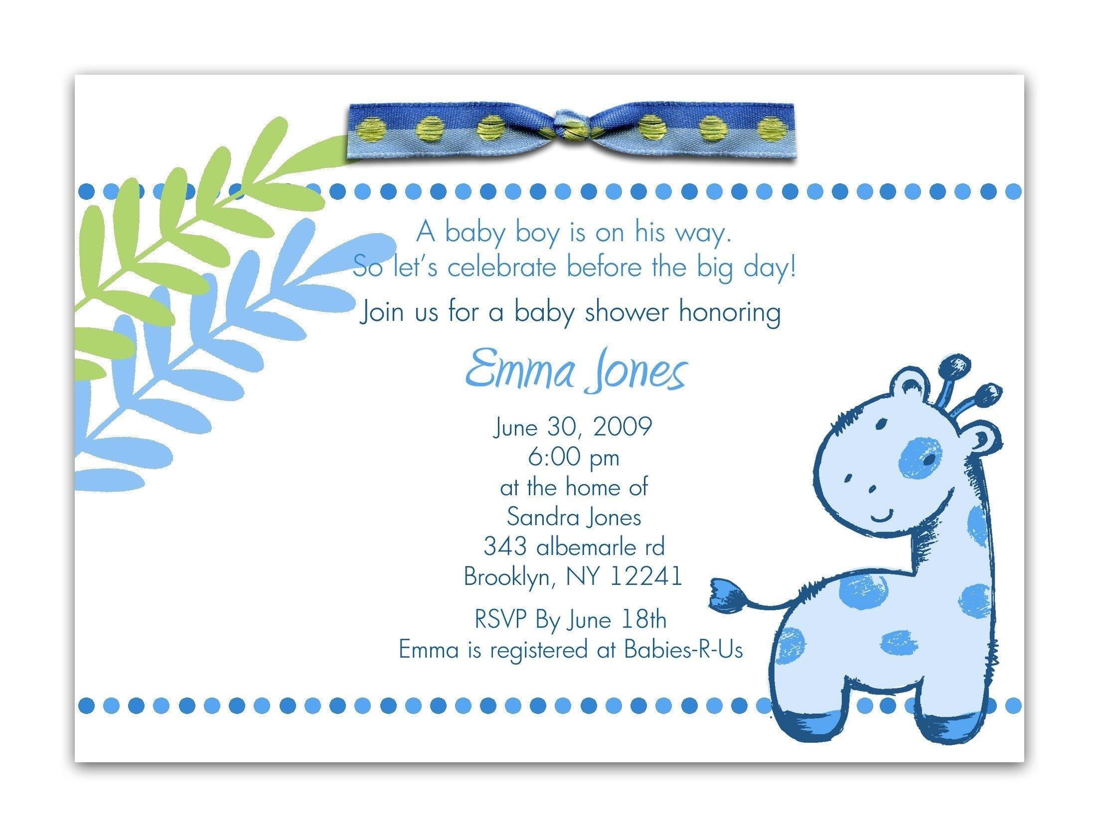 10 Lovable Boy Baby Shower Invitations Wording Ideas invitation for baby shower excellent baby boy shower invitation 2021
