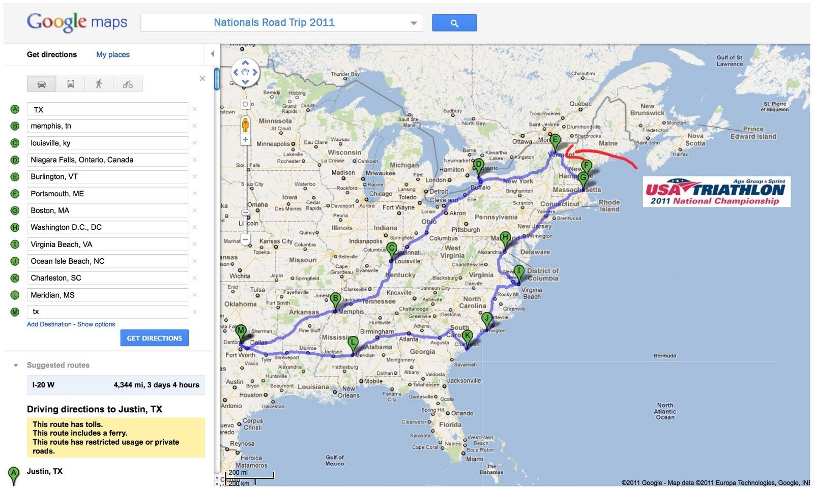 iron texas mommy: tentative road trip - need your east coast ideas!!