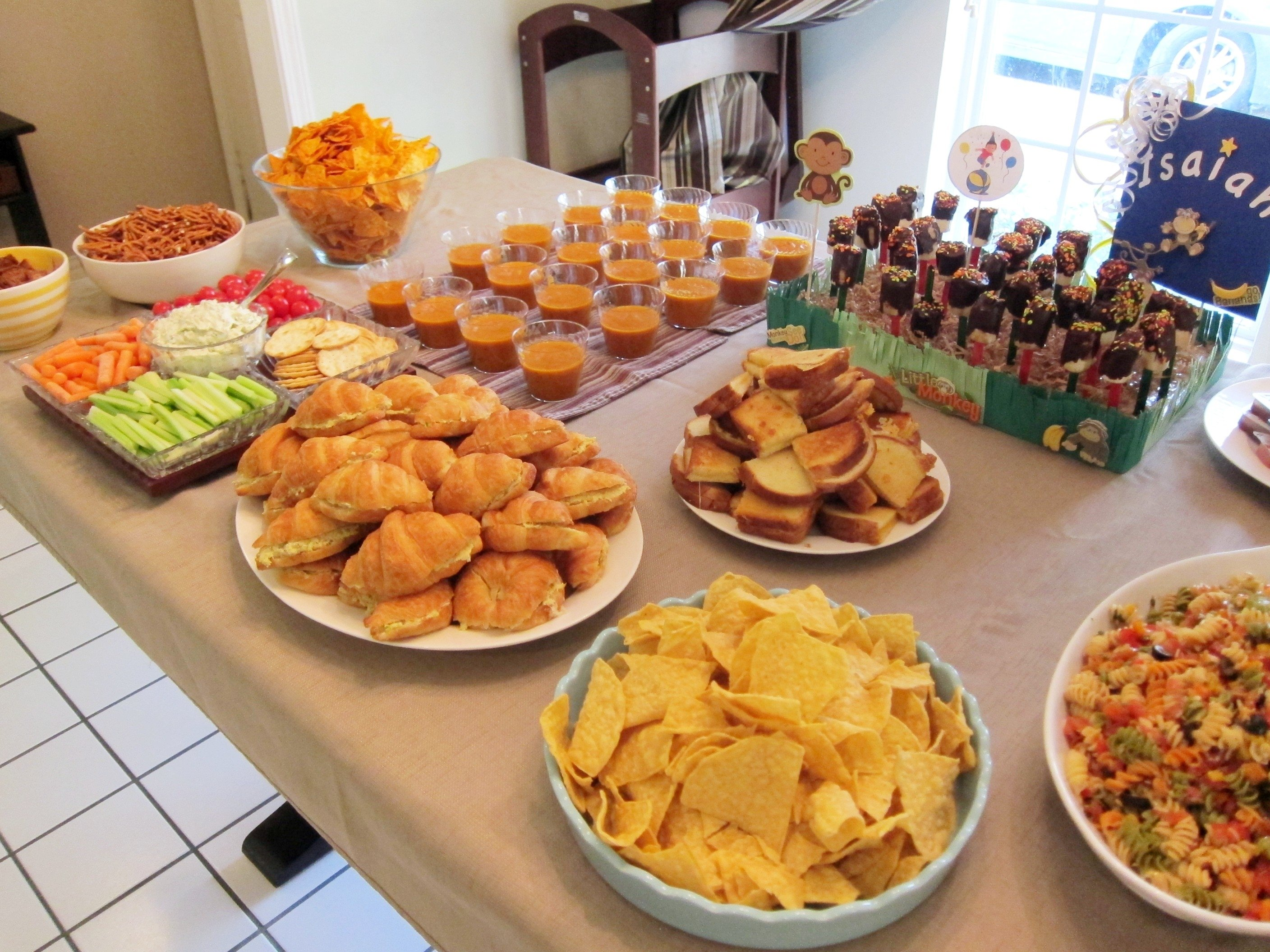 10 Ideal Food Ideas For First Birthday Party isaiahs curious george themed first birthday party oliepants 2 2021
