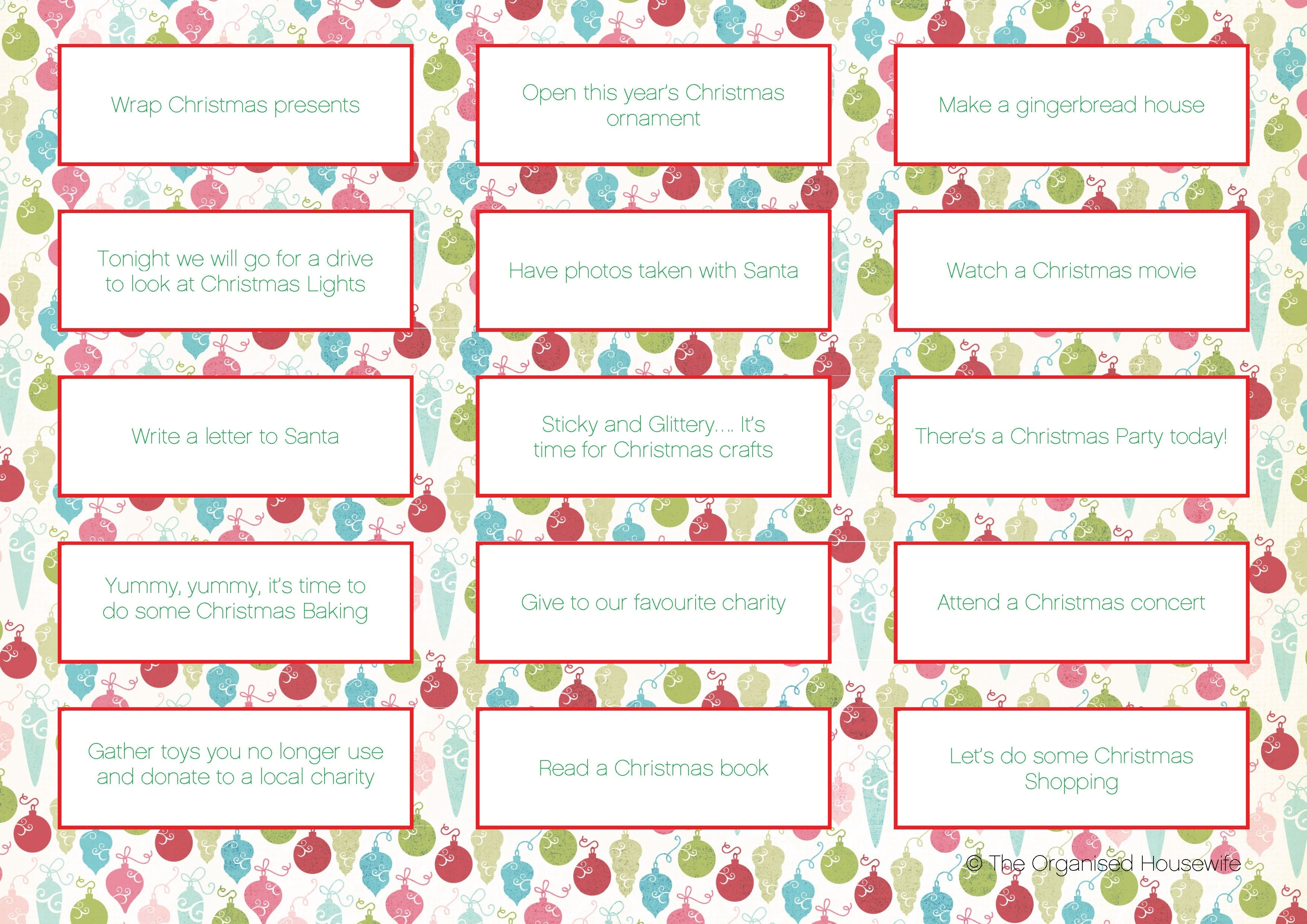 10 Fantastic Ideas For Advent Calendar Fillers items to put in advent calendar the organised housewife 1