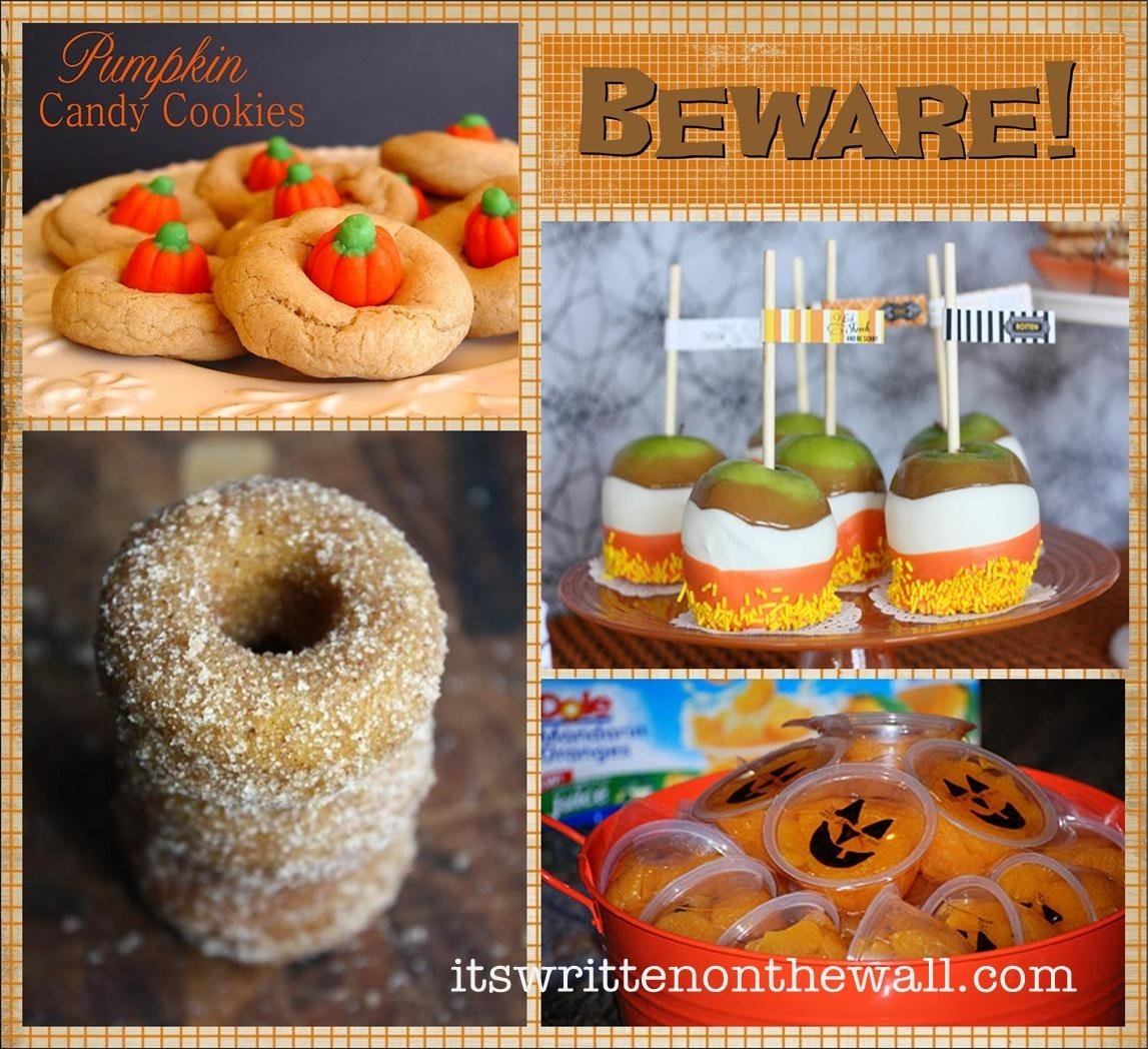 it's written on the wall: 25 halloween treat/dessert ideas for