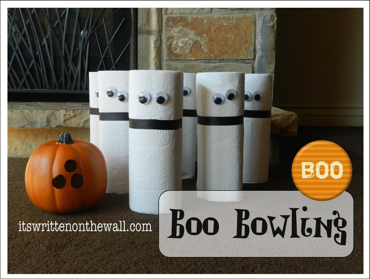10 Wonderful Halloween Party Ideas Kids Games its written on the wall boo bowling a ghostly halloween party 2021