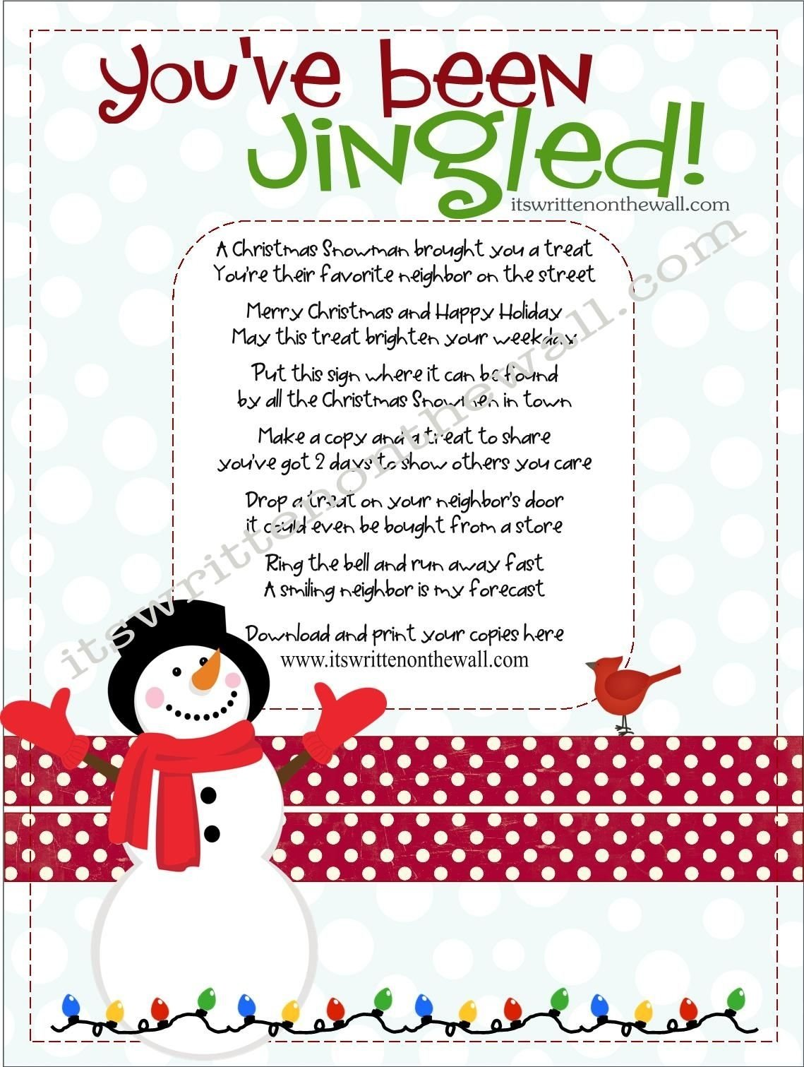 10 Lovely Funny Christmas Gift Exchange Ideas its written on the wall christmas youve been jingled cute way 1