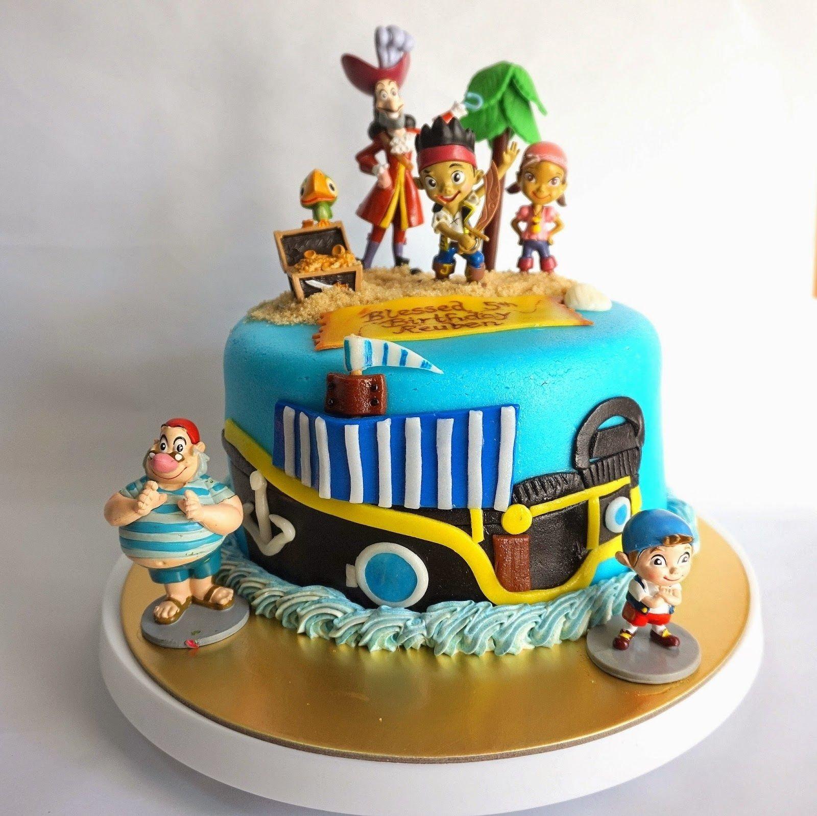 10 Nice Jake And The Neverland Pirate Cake Ideas jack and the neverland pirates themed cake gouter juin et gateau 2020