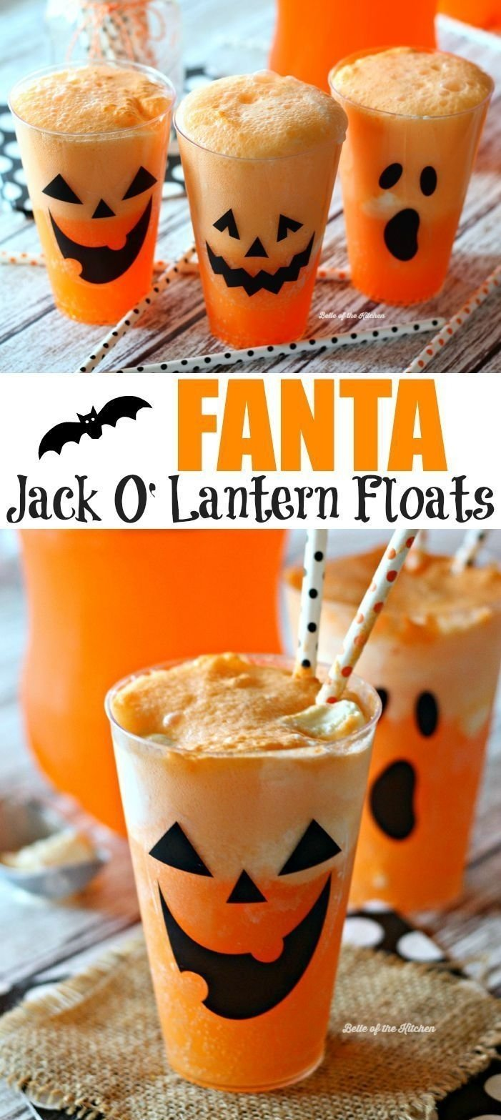 10 Amazing Halloween Drink Ideas For Kids jack o lantern mac and cheese cups recipe easy halloween 2021