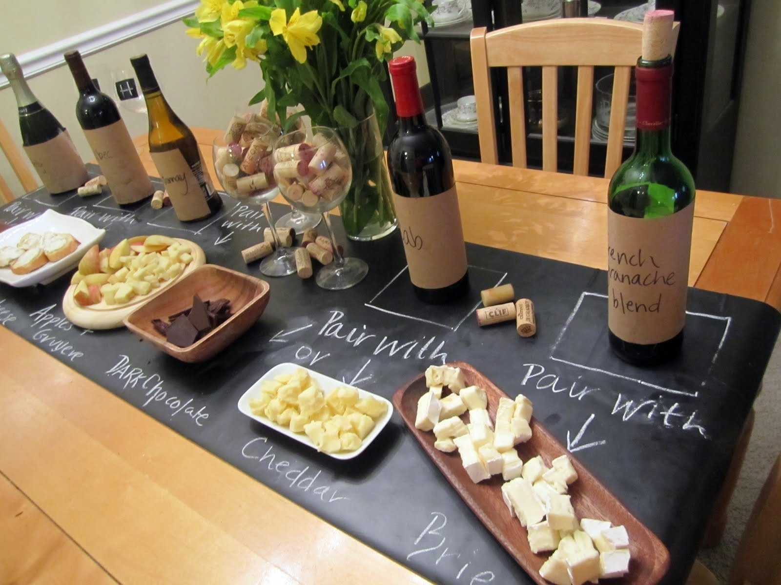 10 Attractive Wine And Cheese Party Ideas jackie fo chalkboard table runner wine and cheese party 1 2021