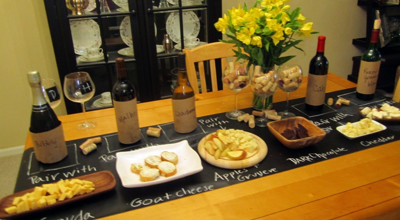 10 Attractive Wine And Cheese Party Ideas jackie fo chalkboard table runner wine and cheese party 2021