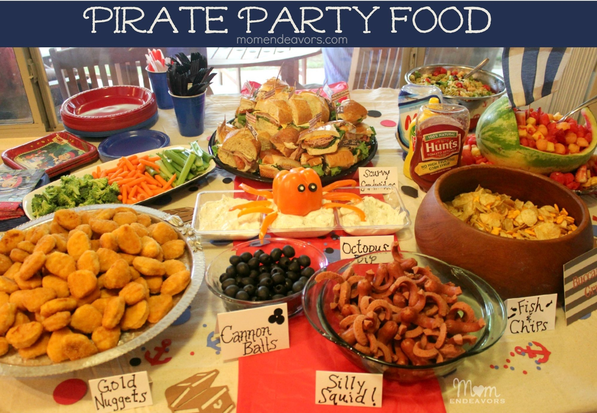 10 Elegant Food Ideas For Birthday Parties jake and the never land pirates birthday party food 2 2021