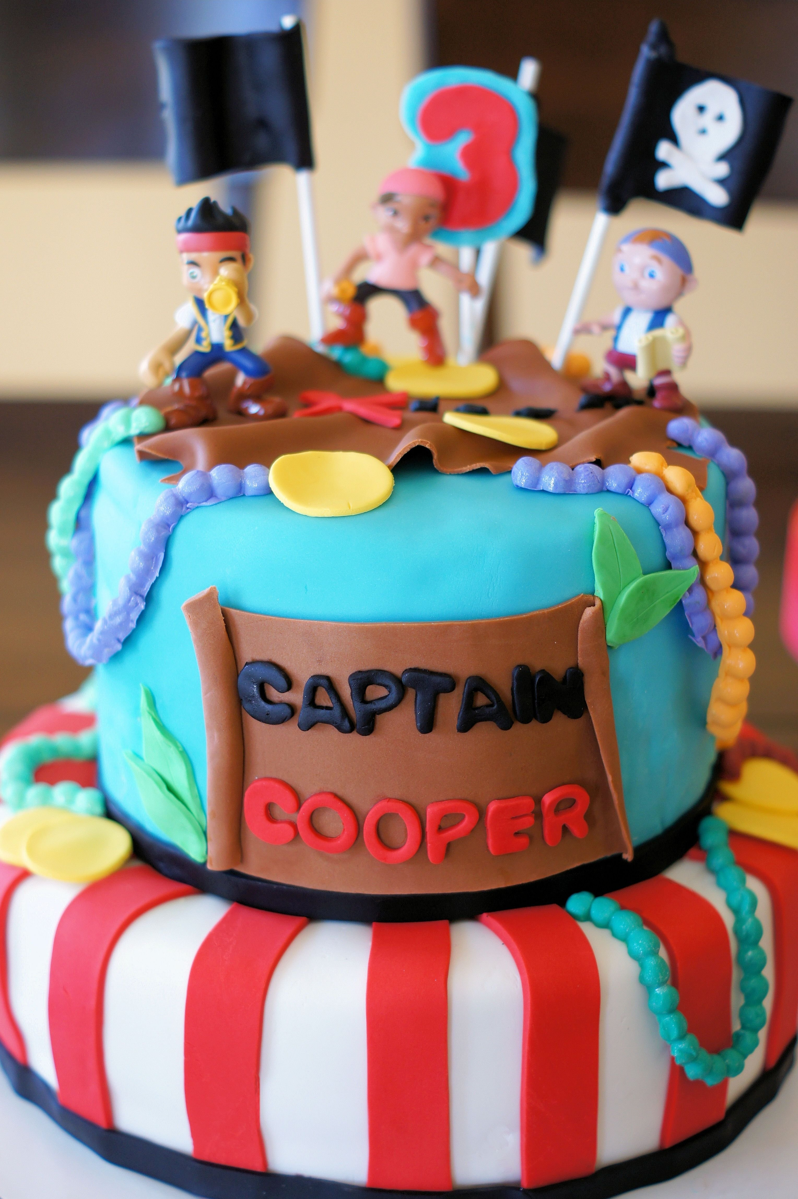 jake and the neverland pirates cake | cake inspirations | pinterest