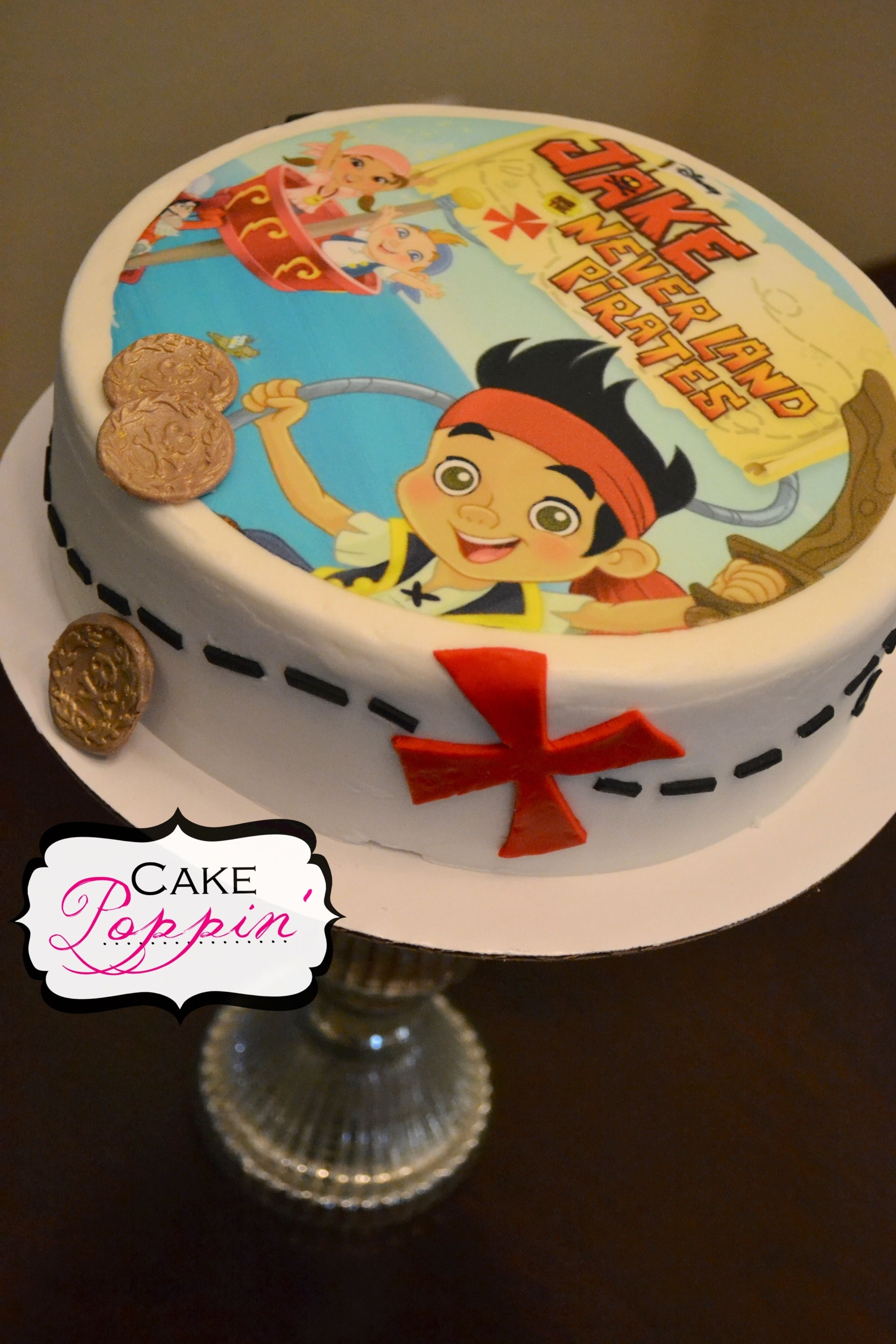 10 Lovable Jake And The Neverland Pirates Cake Ideas jake and the neverland pirates cake fiesta infantil pinterest 2021
