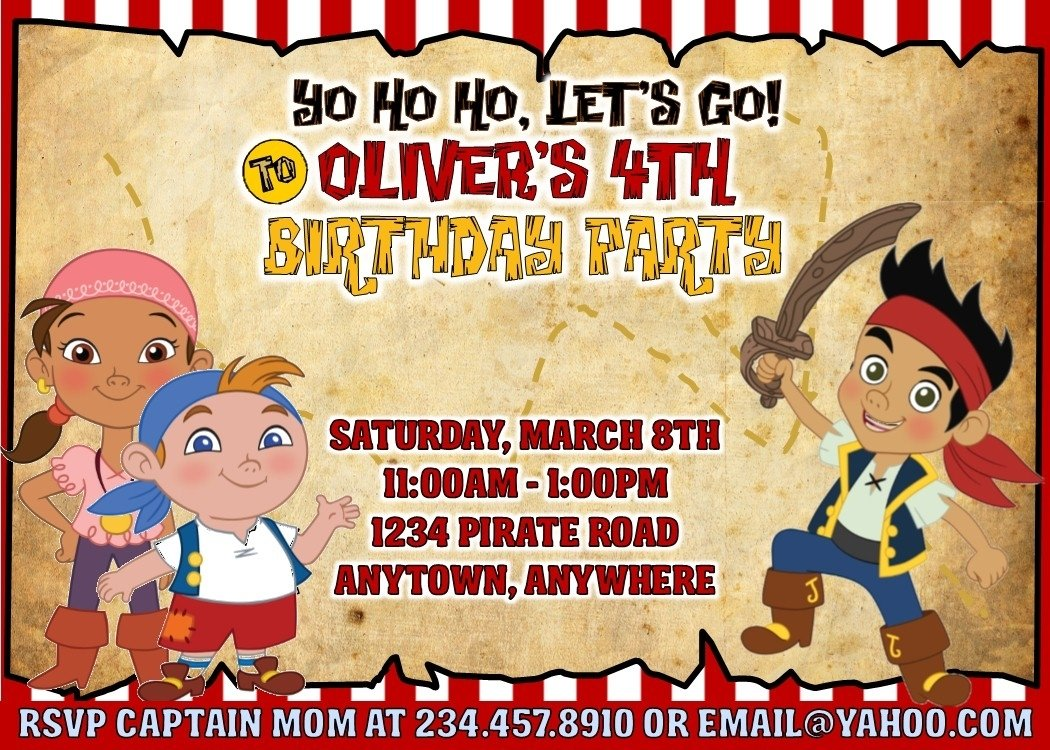 10 Awesome Jake And The Neverland Pirate Party Ideas jake and the neverland pirates party games invitations and more 1 2020