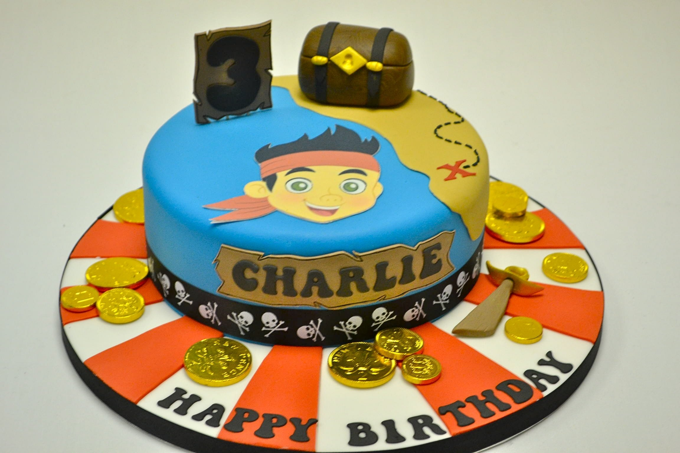 10 Lovable Jake And The Neverland Pirates Cake Ideas jake and the neverland pirates treasure cake celebration cakes 2021