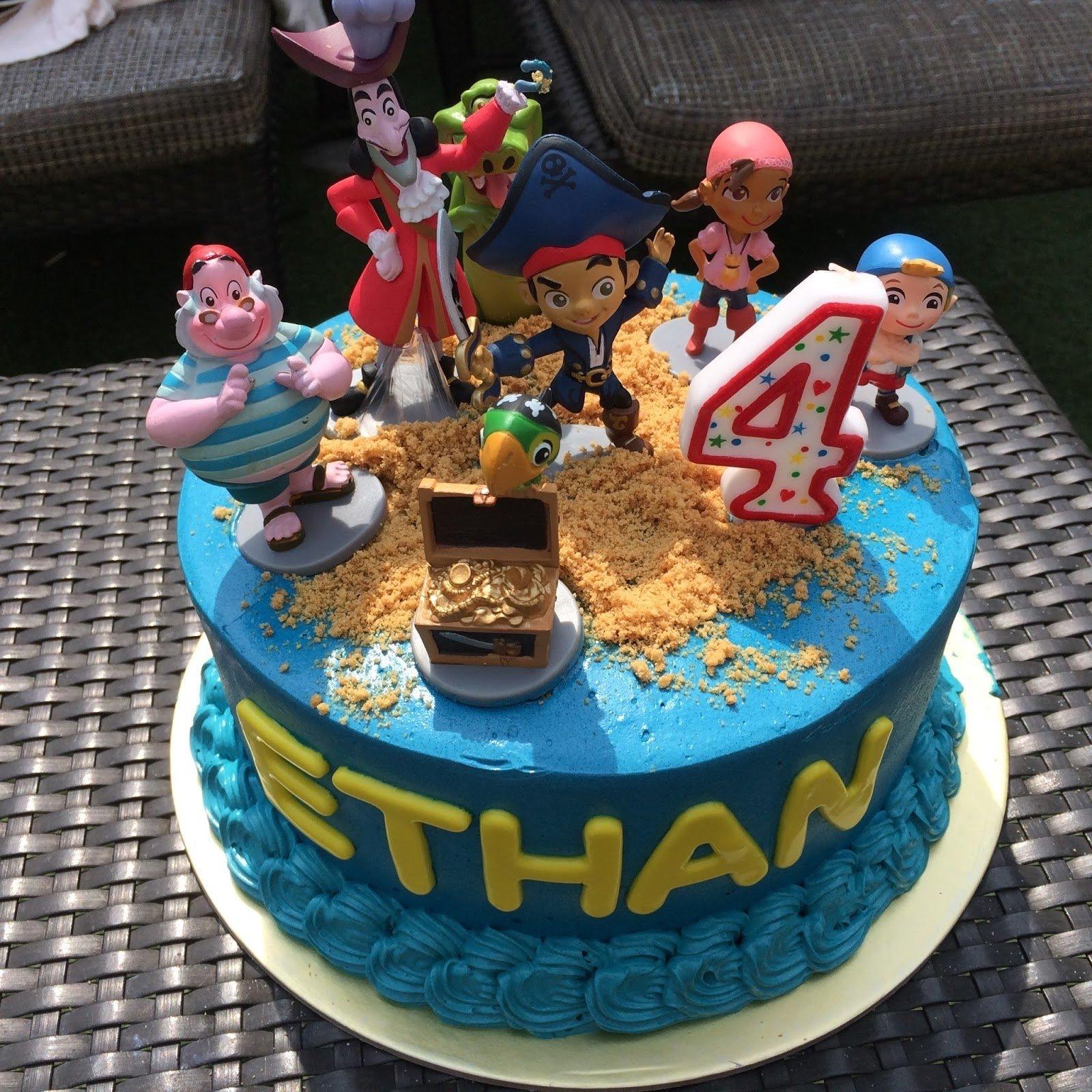 10 Nice Jake And The Neverland Pirate Cake Ideas jake the neverland pirates cake crissas cake corner 1 2020