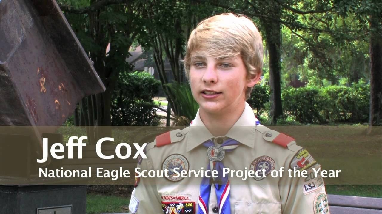 jeff cox, national eagle scout service project of the year for the