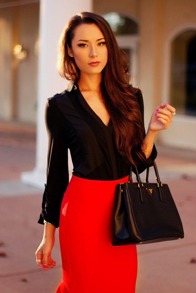 10 Perfect Red Pencil Skirt Outfit Ideas jessica ricks beautiful huh pinterest jessica ricks 2020