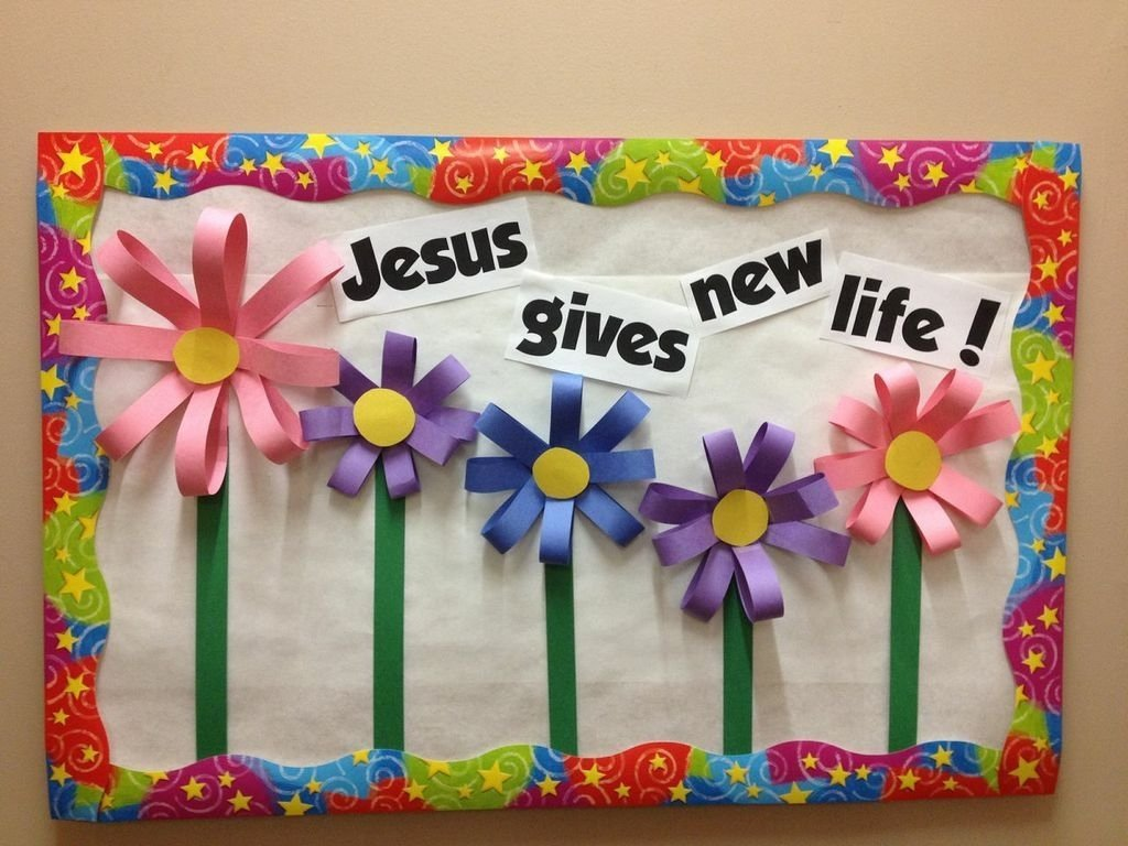 jesus gives new life! | bulletin board, churches and board