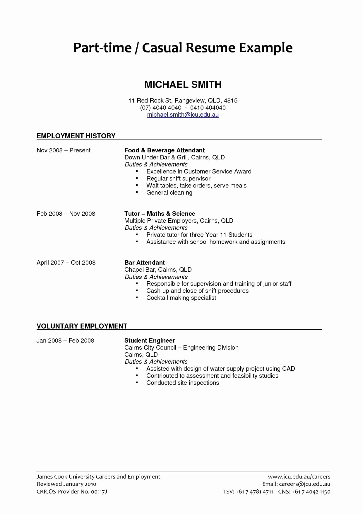 10 Trendy Ideas For Part Time Jobs job resume format pdf download inspirational download how to write a 2020