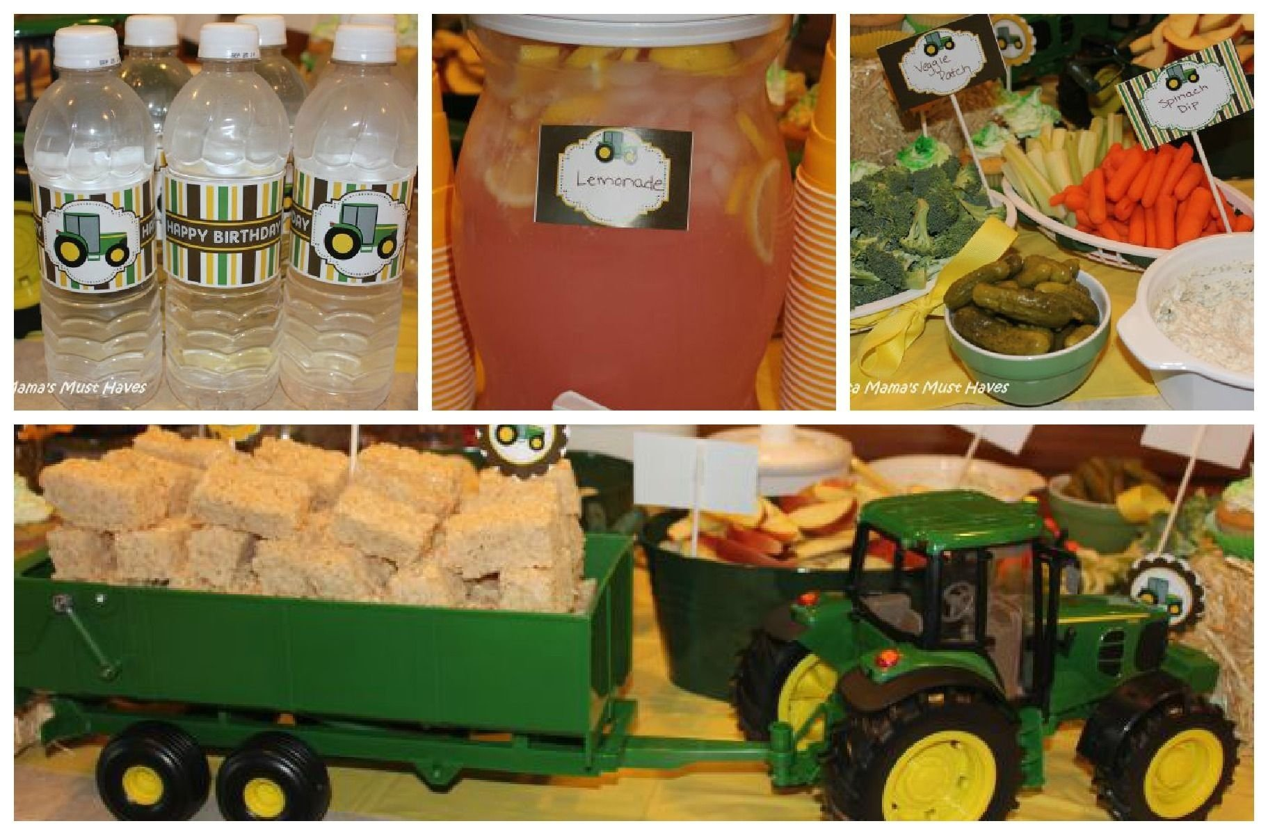 john deere tractor birthday party! food, games, favors & more! | hay