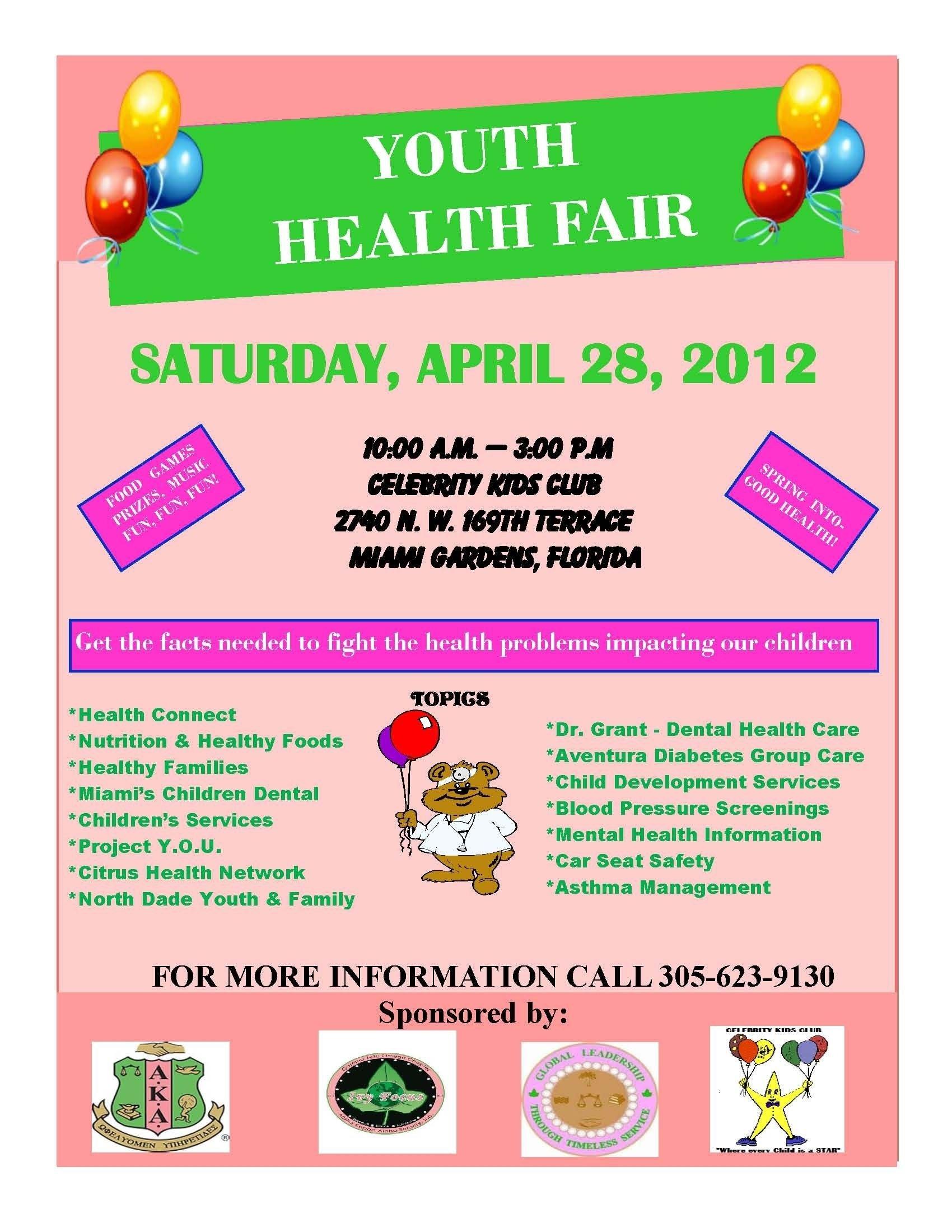 10 Stylish Health Fair Ideas For Kids join celebrity kids club for a youth health fair on april 28 2021