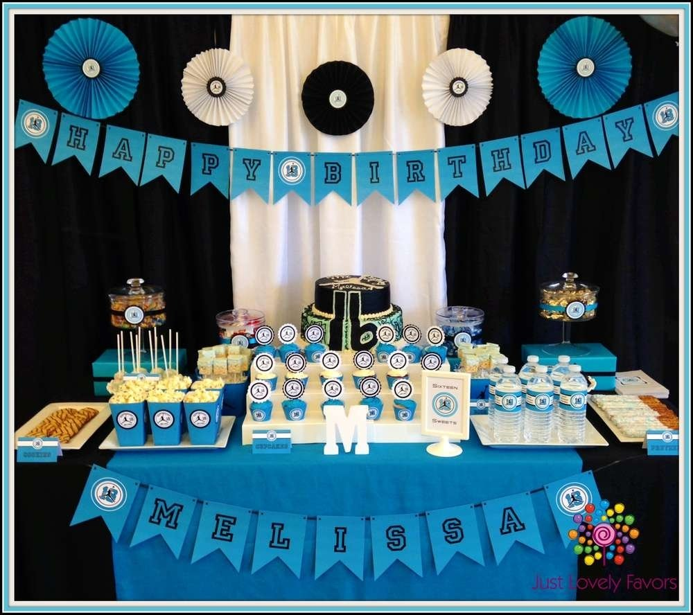 10 Attractive Sweet 16 Party Ideas For Boys Jordan Theme Birthday Photo 1