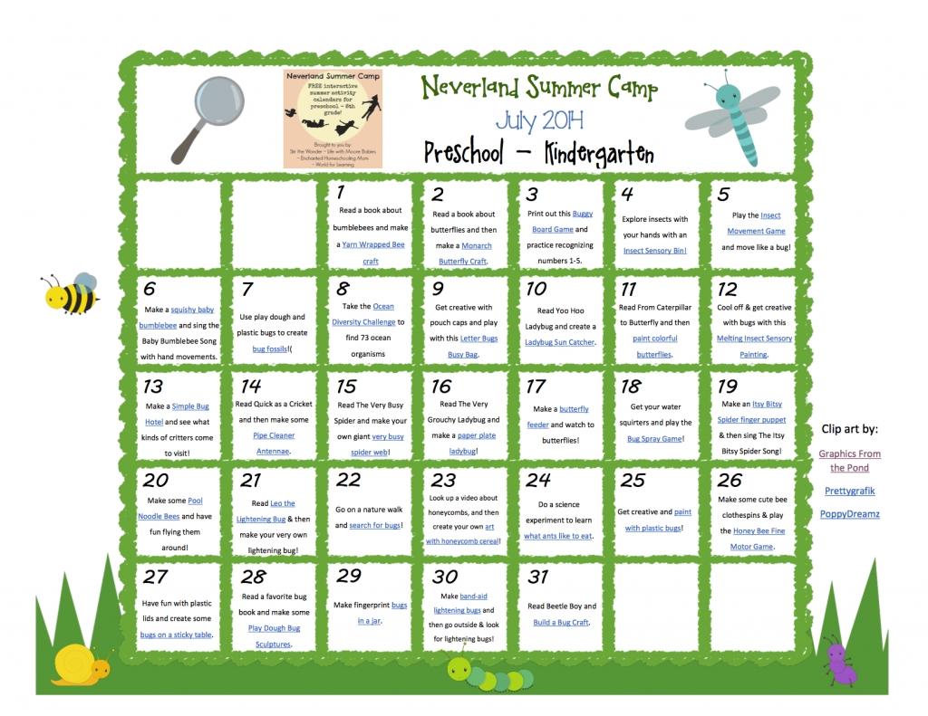 10 Perfect Preschool Summer Camp Theme Ideas july neverland summer camp preschool kindergarten calendar
