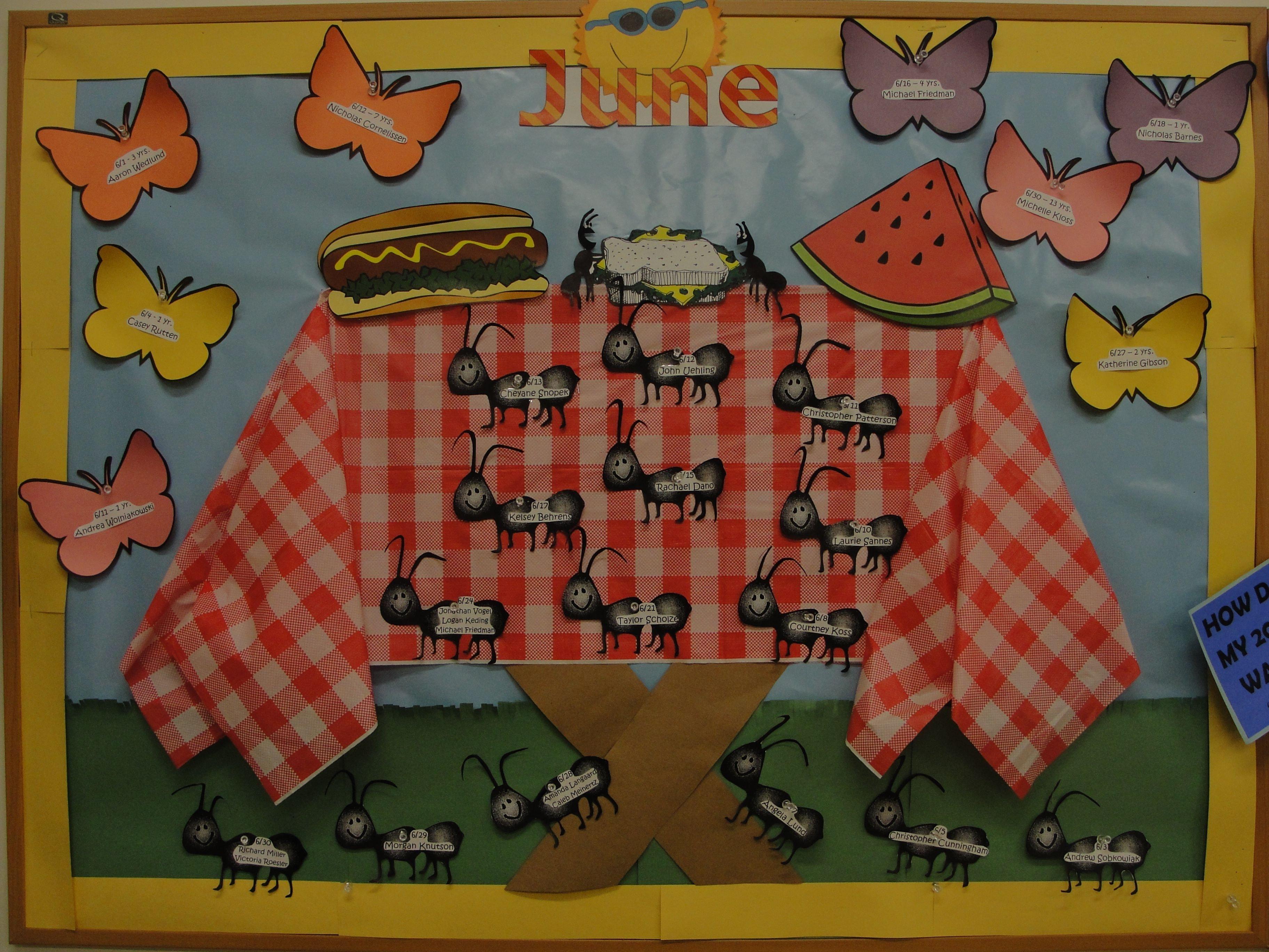 june picnic bulletin board. | crafty | pinterest | surprise et herbe