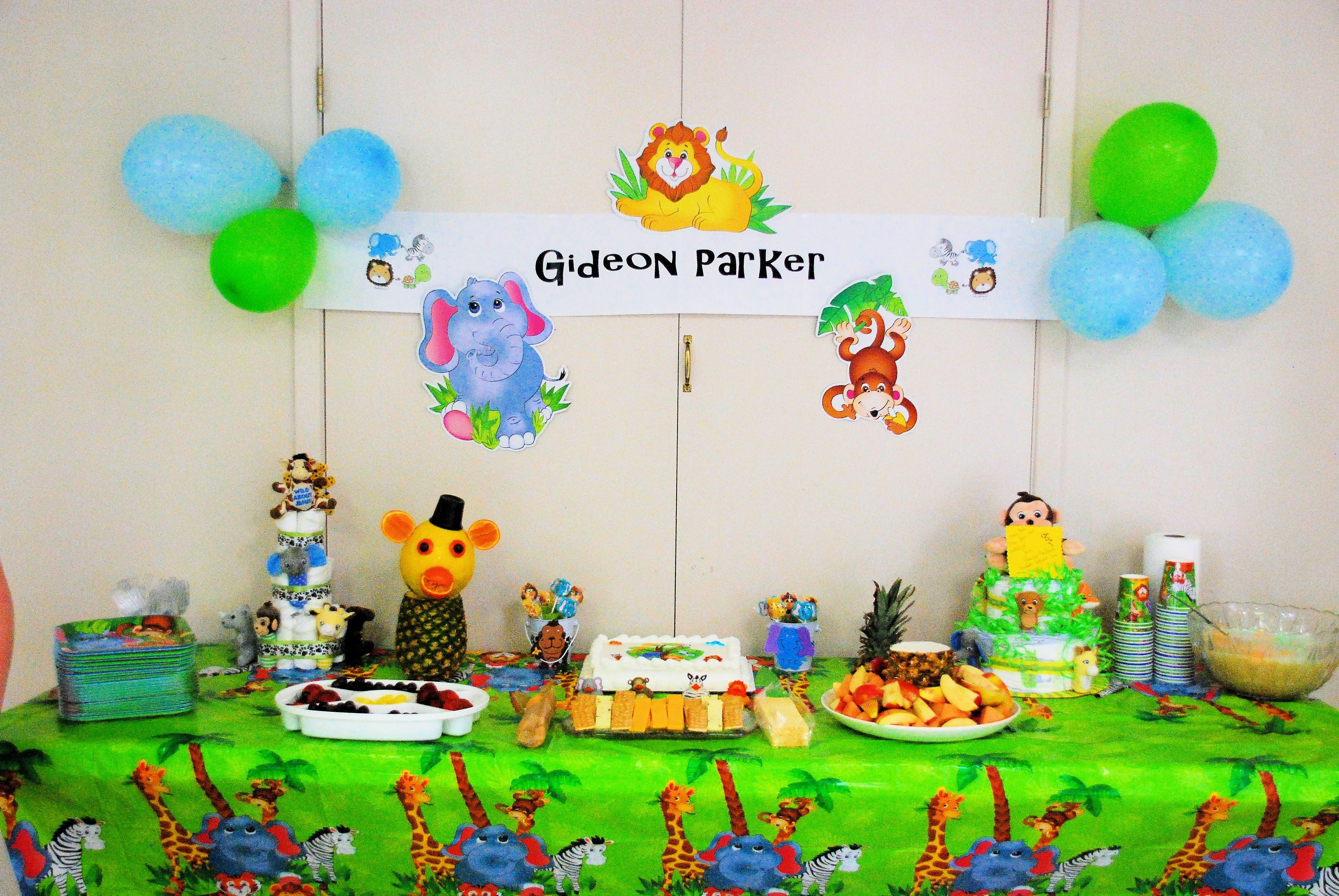10 Awesome Jungle Themed Baby Shower Ideas jungle animal themed baby shower centerpieces c3 a2 c2 bb your