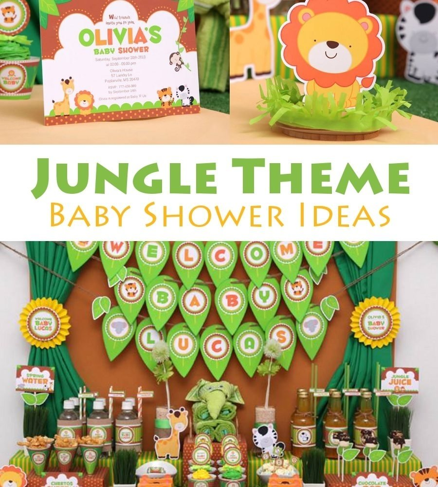 10 Awesome Jungle Themed Baby Shower Ideas jungle pin 900x1000 3