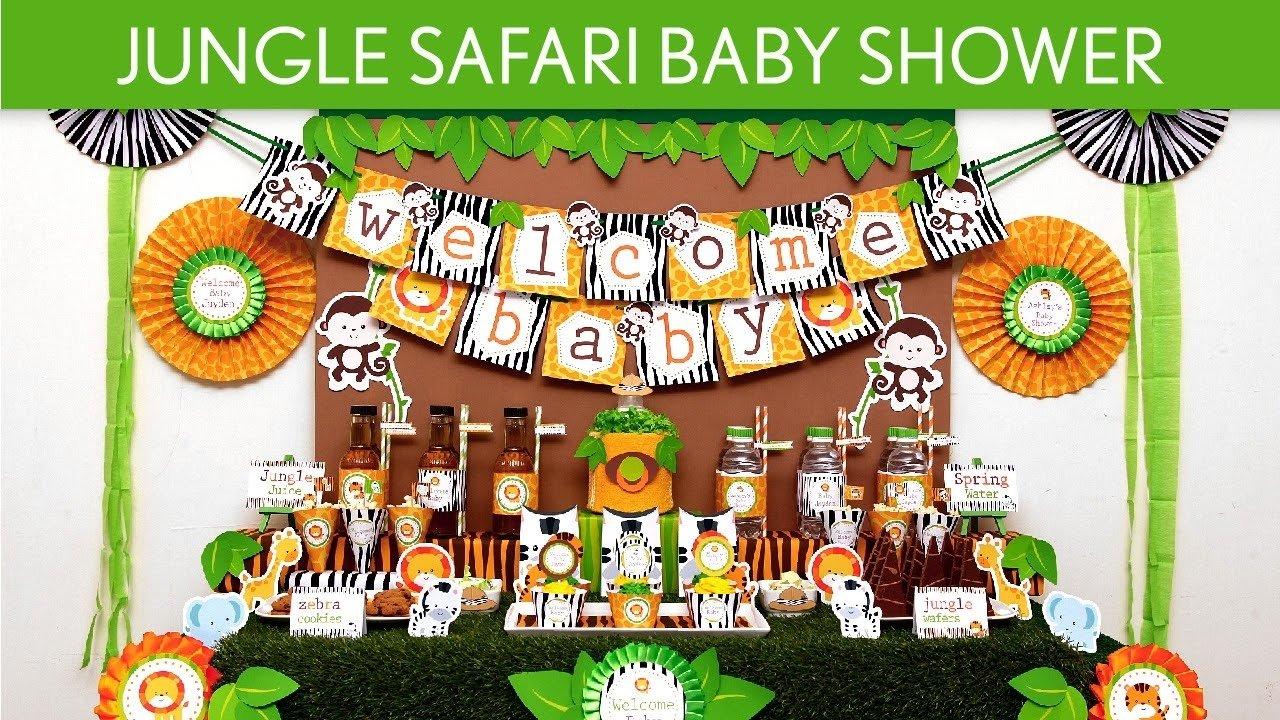10 Great Jungle Safari Baby Shower Ideas jungle safari baby shower party ideas jungle safari s50 youtube