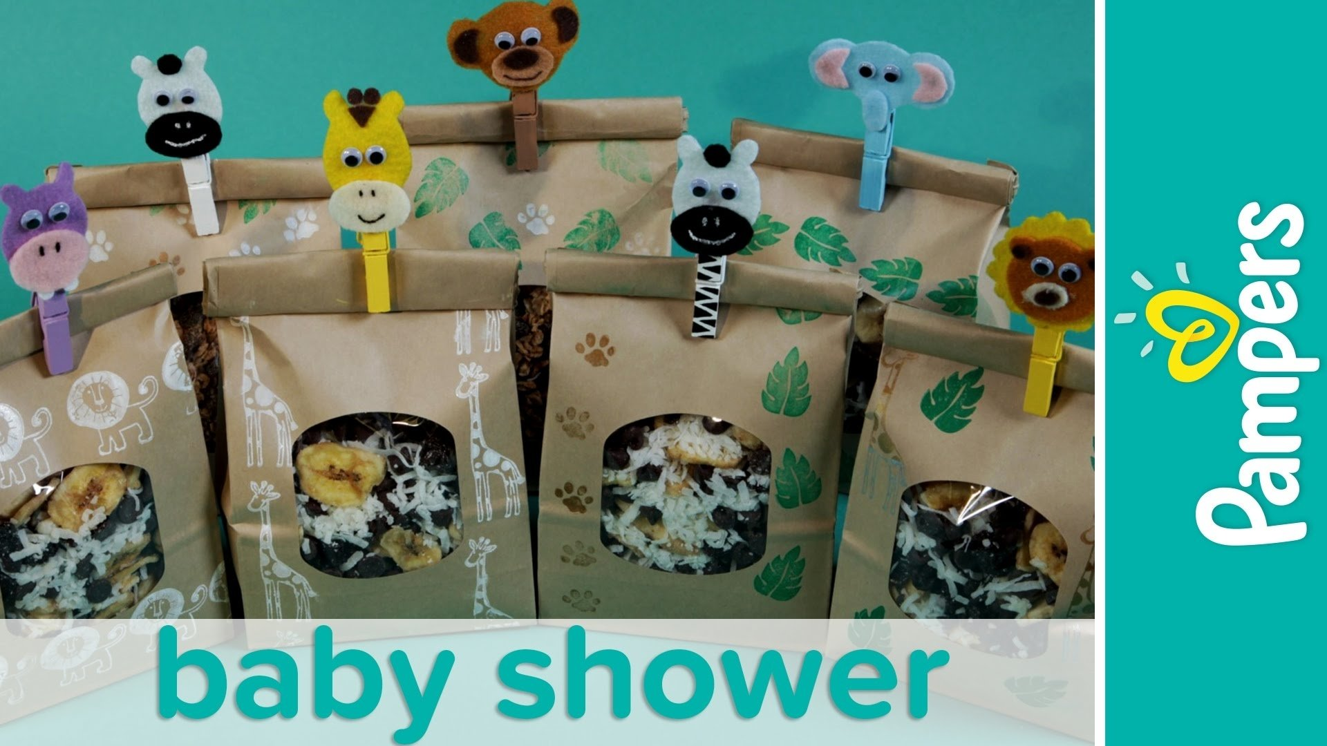 10 Awesome Jungle Themed Baby Shower Ideas jungle theme baby shower favor ideas homemade trail mix recipe 2